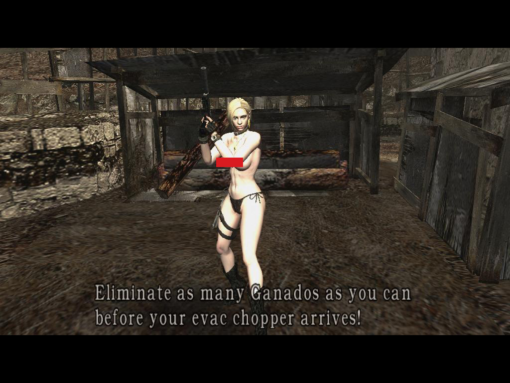 18+ Jill Bikini Topless to Wesker (Mercenaries) 2cfwbgo