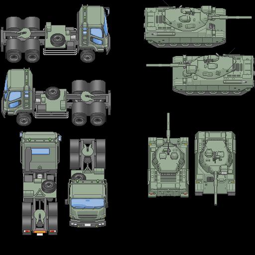 Tilesets de Guerra Moderna: Vehículos Terrestres 2hpown9