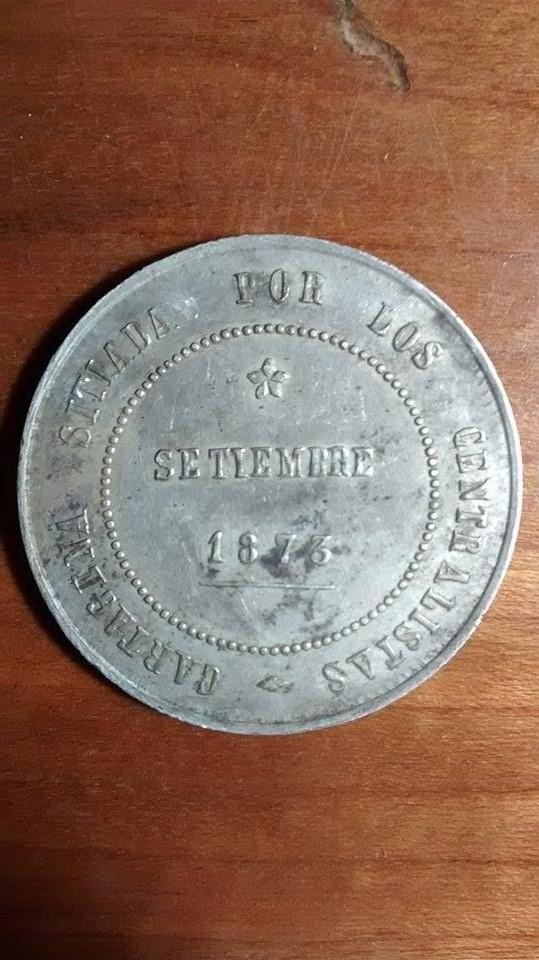 5 pesetas - Revolución cantonal, Cartagena 1873 DEDICADO AL COMPI CARTAGINESERO 2ijludz