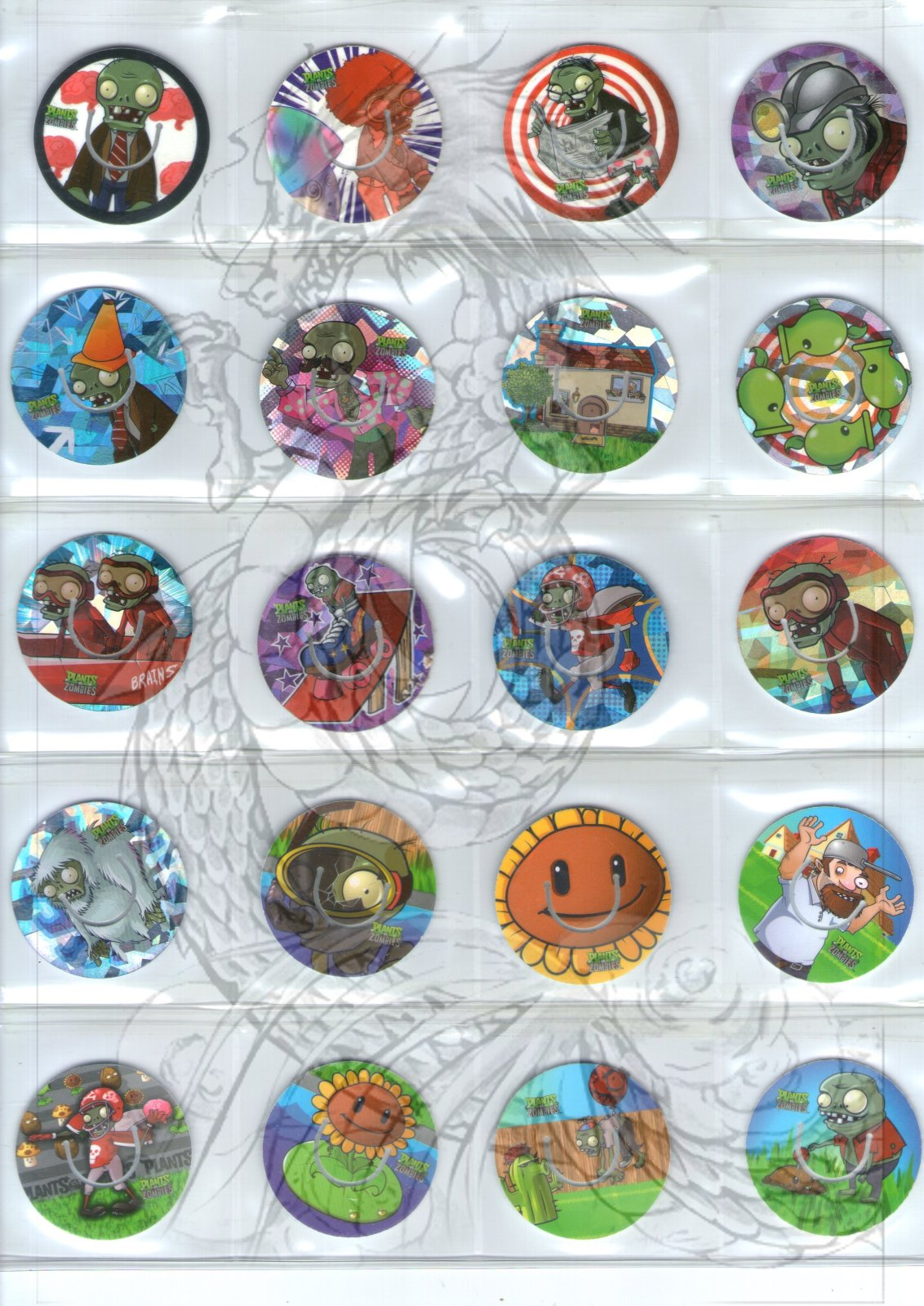 Tazos Plantas Vs Zombies de SABRITAS 2inot5