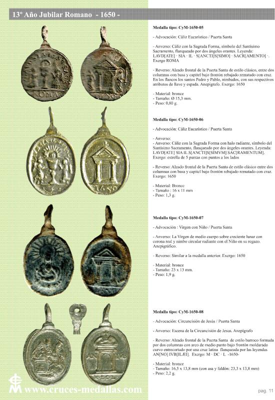 jubilares - Recopilación de medallas con fecha inscrita de los Años Jubilares Romanos  2mbg1z