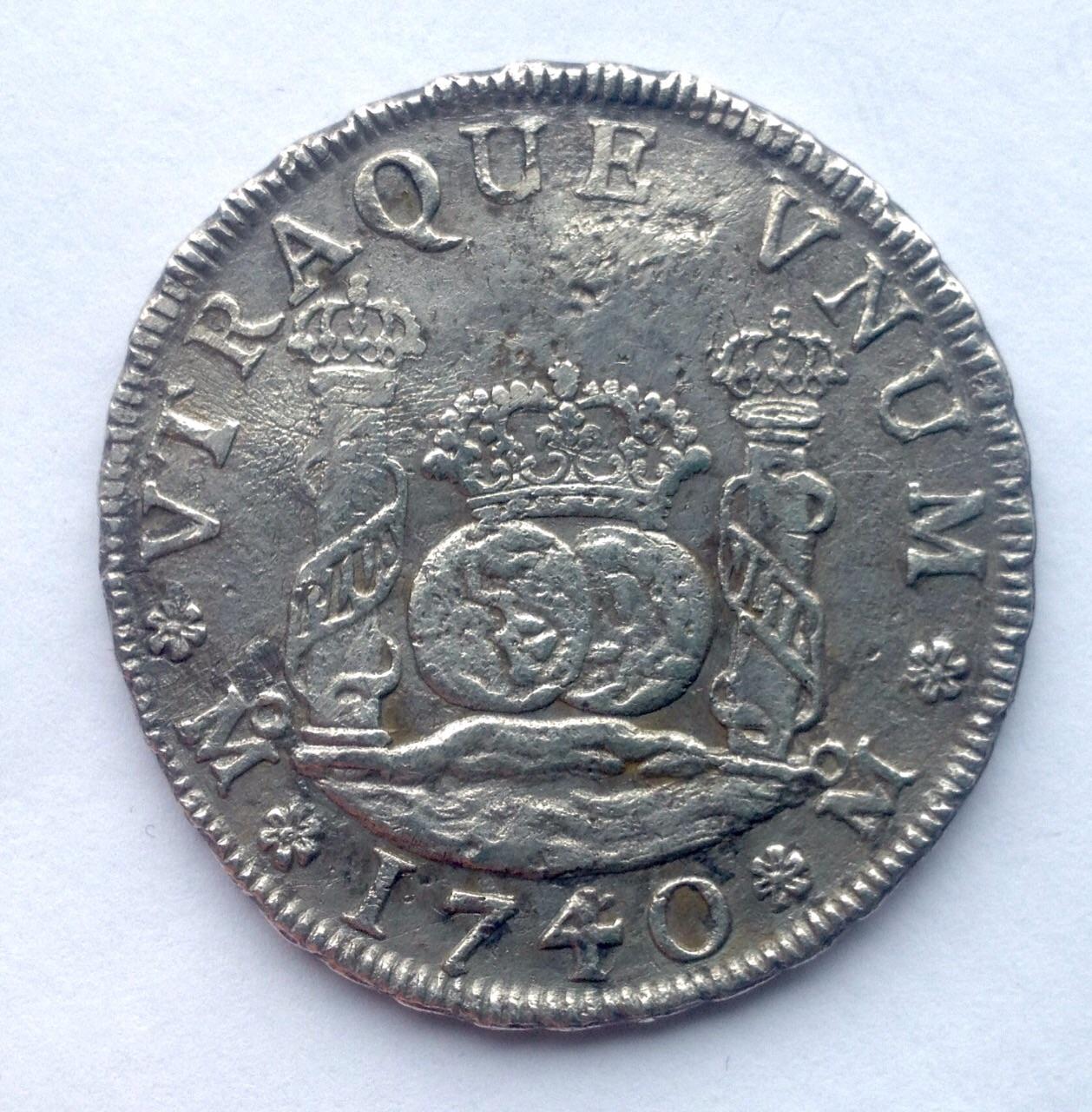 4 reales columnario de 1740. Felipe V, México 2mmwl8w
