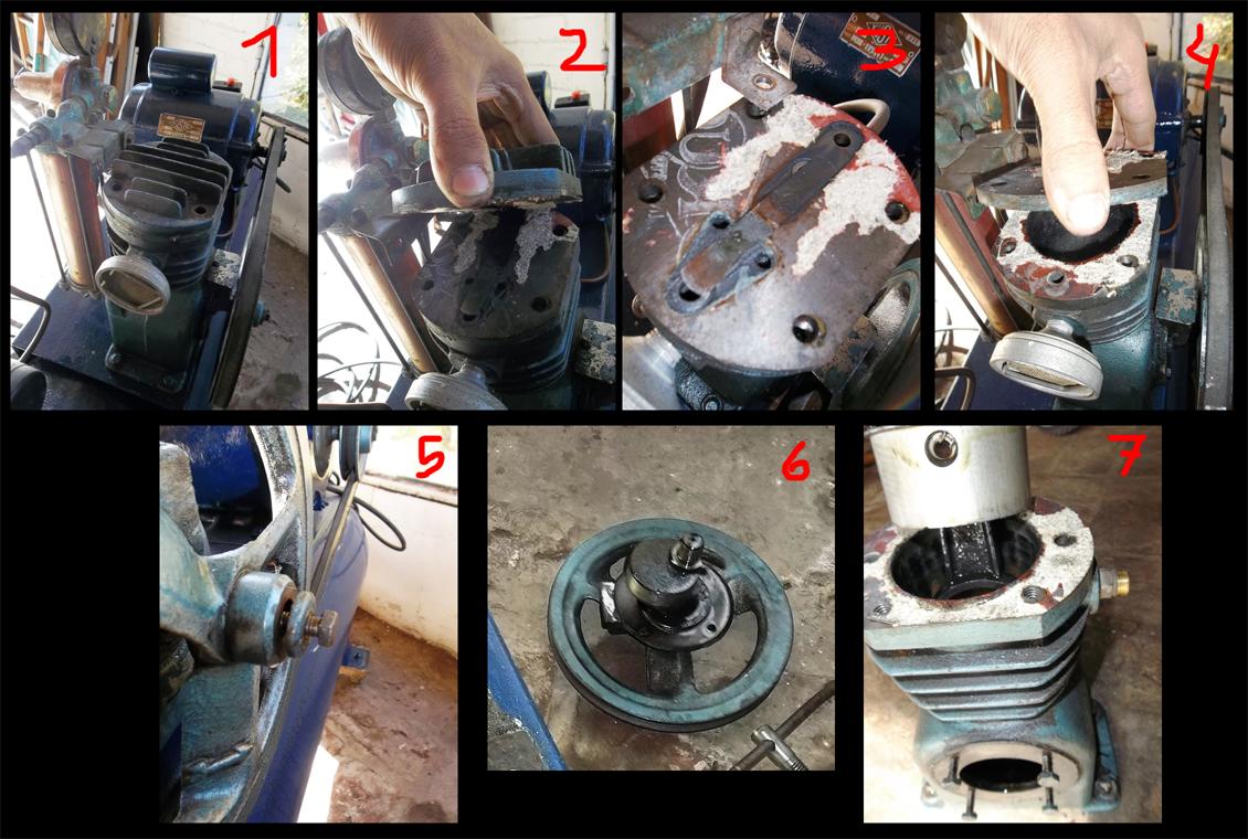 Ayuda:  para desarmar el cabezal de un compresor marca DELFAR 2ntusds