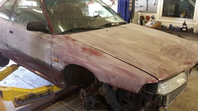 Mazda 626GT Turbo - 29/5 bytte intercooler 2qmjdav