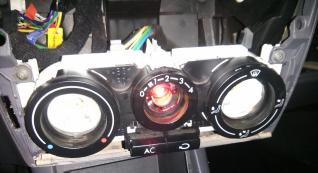 trocando lampada de iluminação dos instrumentos de ventilação 2rc64v7