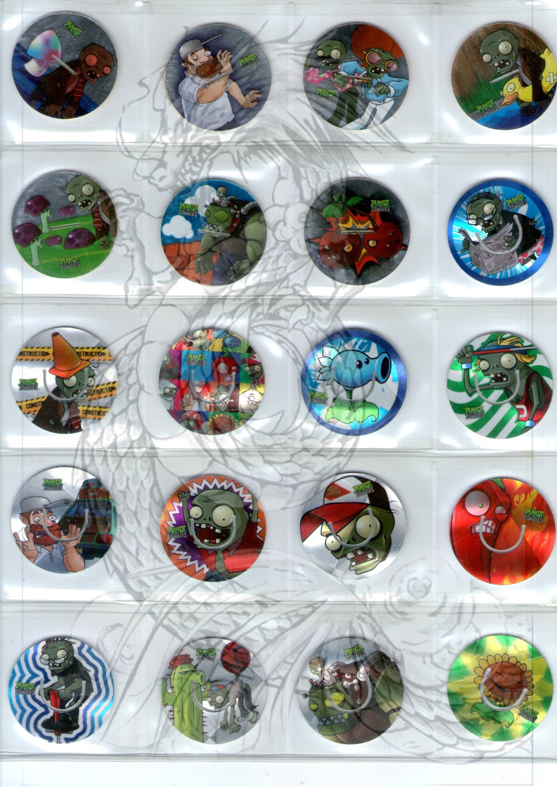 Tazos Plantas Vs Zombies de SABRITAS 2s7guag