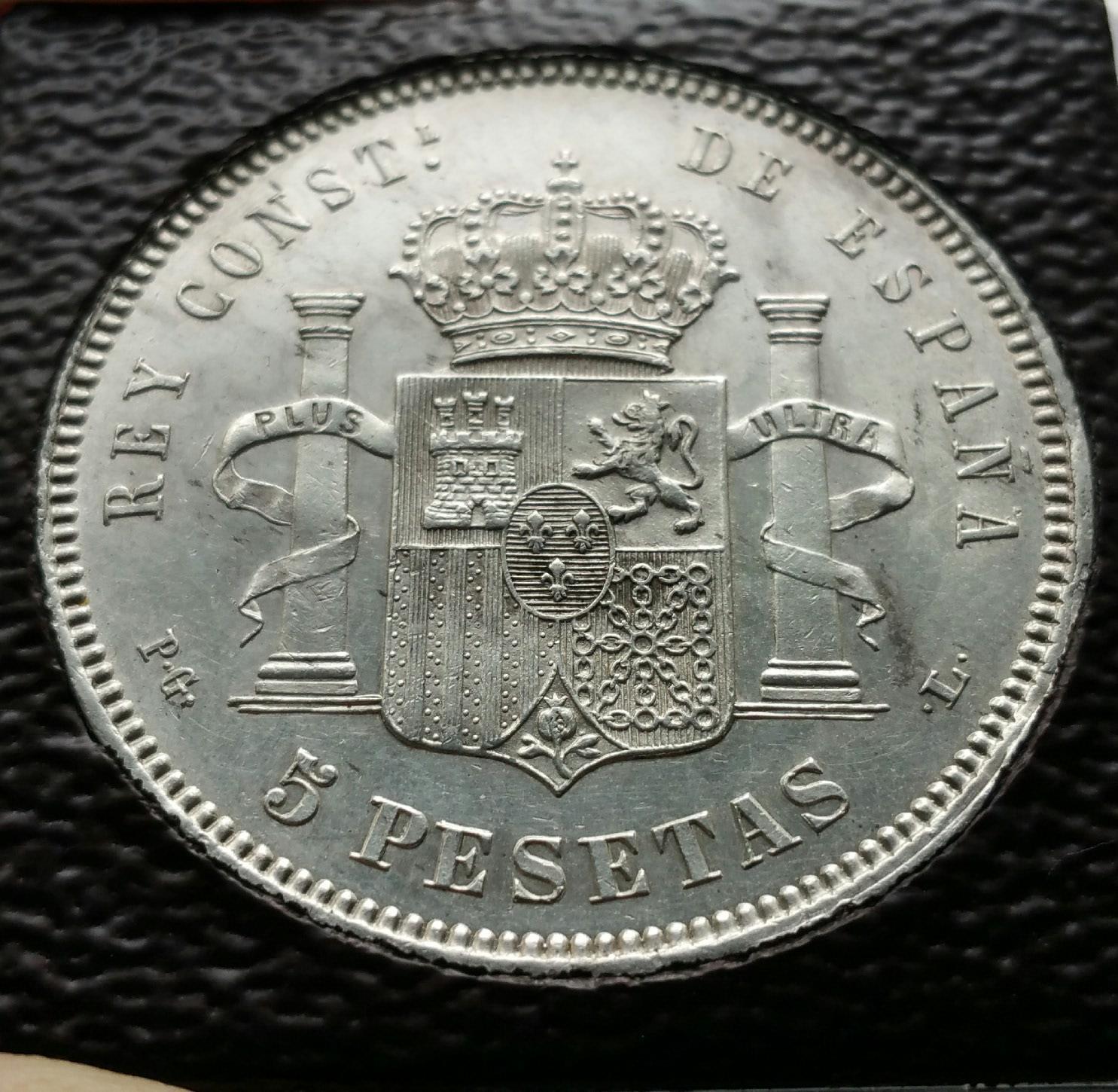 5 PESETAS 1893 ALFONSO XIII (BUCLES)  2vjvhah