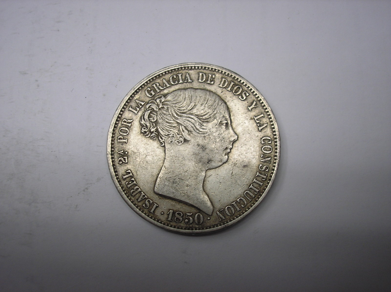 20 reales 1850 CL Isabel II Madrid 333x47o