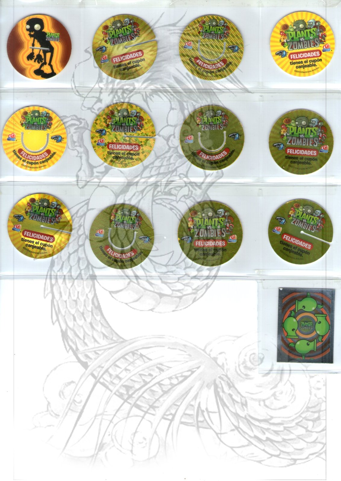 Tazos Plantas Vs Zombies de SABRITAS 8znw4h