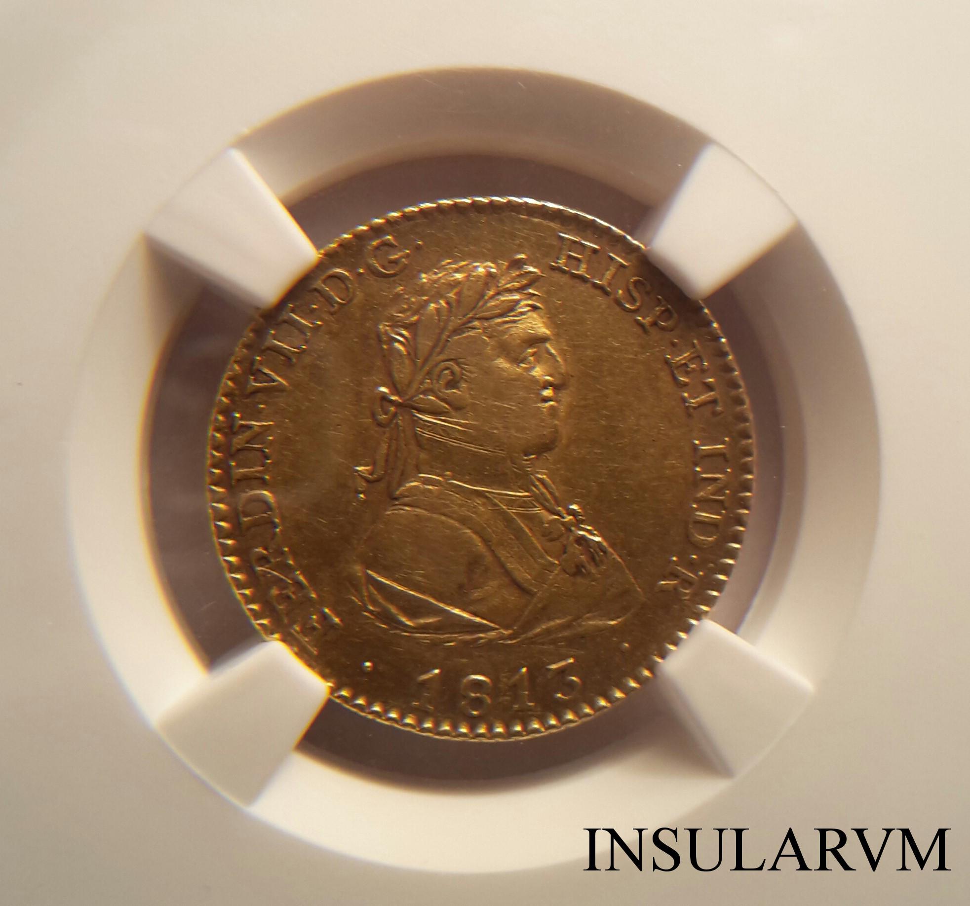 Fernando VII, 2 Escudos 1813 GJ (Madrid) NGC XF 45 Dqnmkl