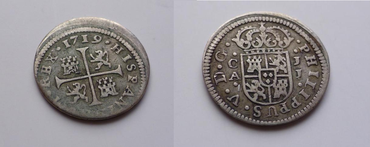 medio real 1719. Cuenca. F0uicz