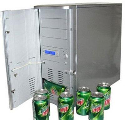 Caja metálica, hecha con caja de ordenador F23pd2