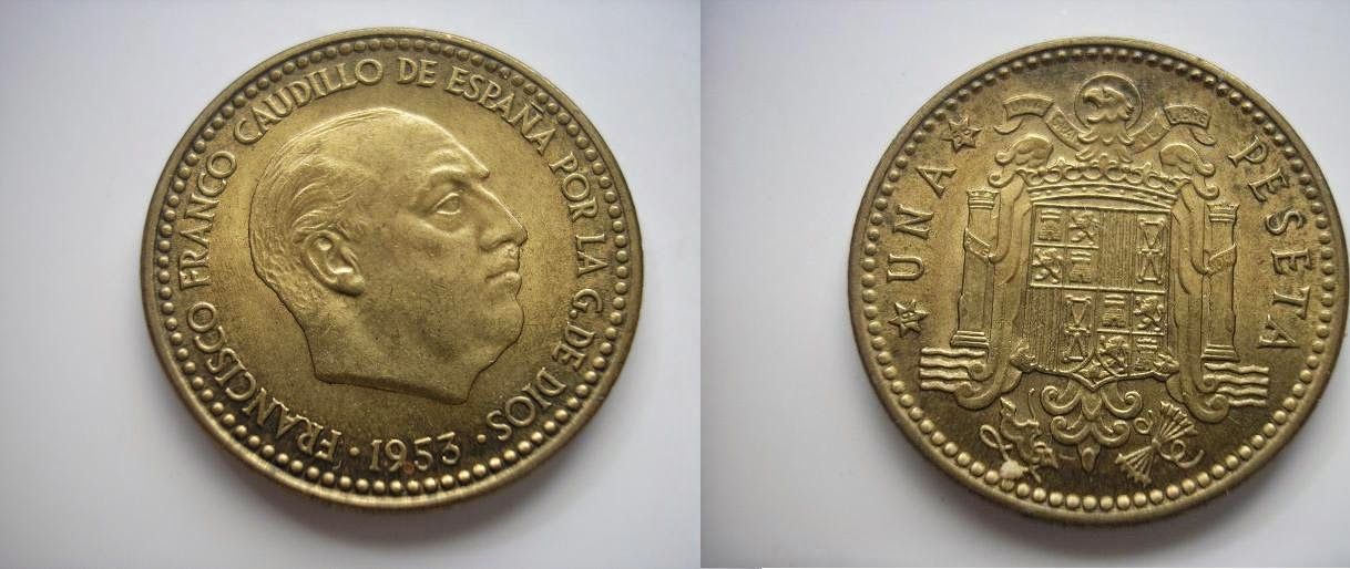 Las pesetas de Franco. I4lttc