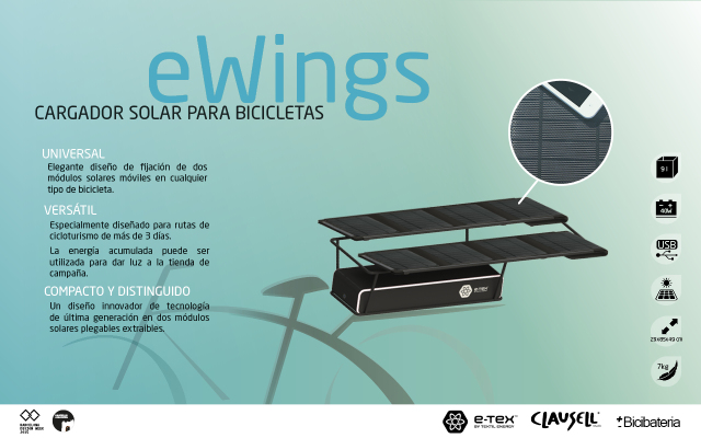 Cargador solar para bicicleta. J8dz5v