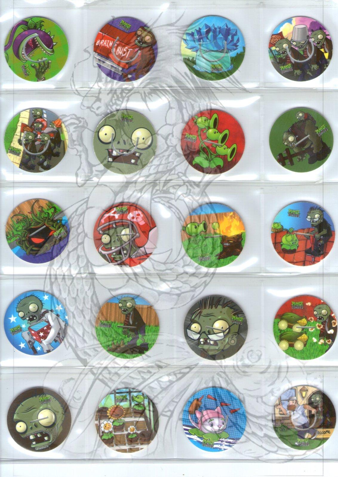 Tazos Plantas Vs Zombies de SABRITAS Jztyfo