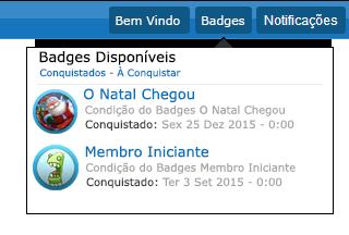 Sistema de Conquista - Badges N2e8i8