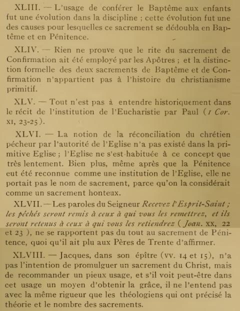 Décret «Lamentabili sane exitu» de Saint Pie X, du  3 juillet 1907 Olfeo