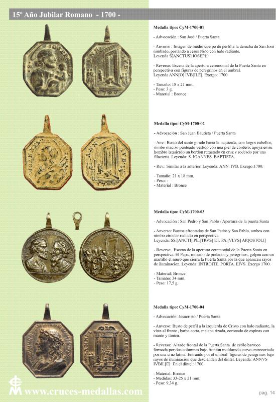jubilares - Recopilación de medallas con fecha inscrita de los Años Jubilares Romanos  Op3i8z