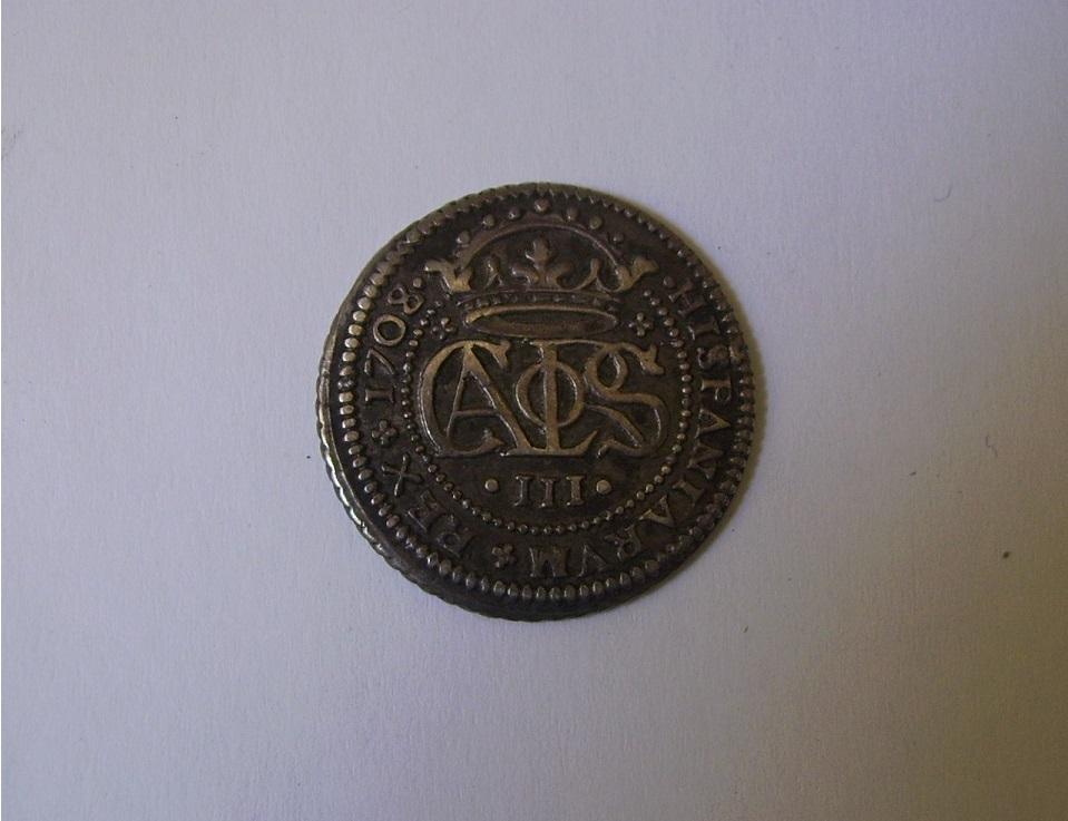 2 Reales Carlos III (el Pretendiente) 1708 Barcelona R07fq0