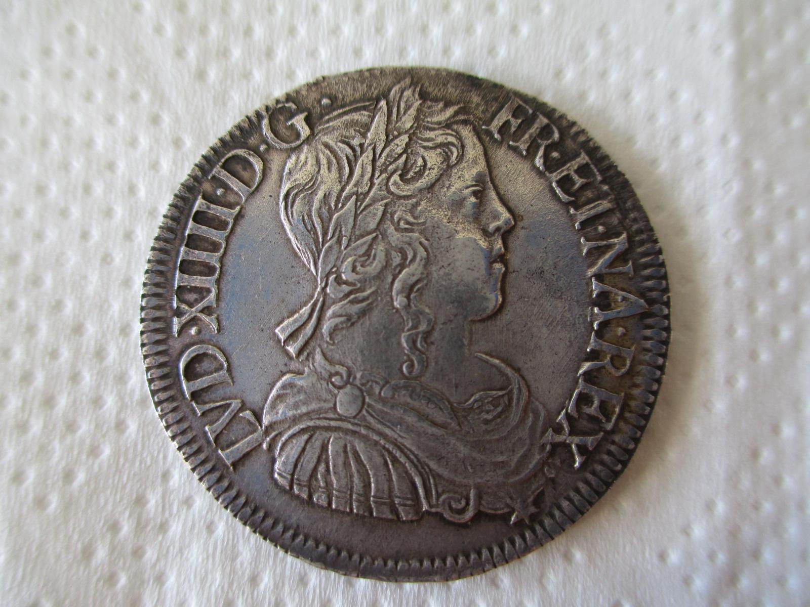 Medio Ecu. Francia 1649. Luis XIV. La Rochelle Rc08y0