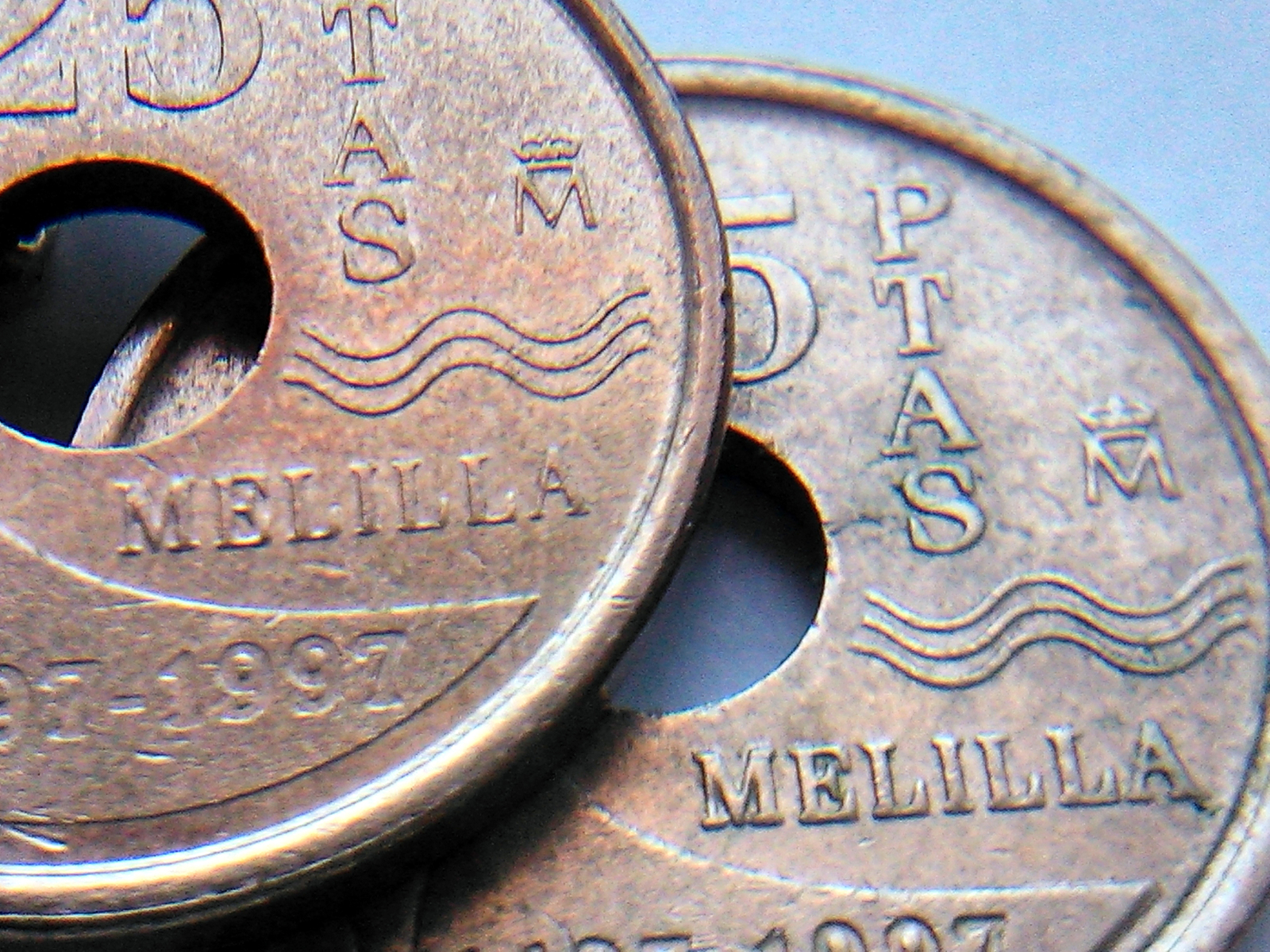 Variante de 25 pesetas Melilla 1997 Juan Carlos I Rkylqf