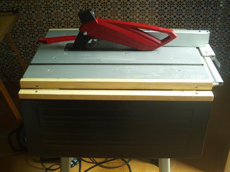 Mi sierra de mesa y sus modificaciones. Sd1y4z