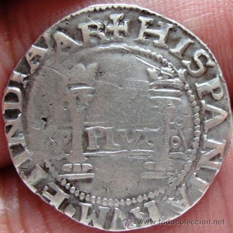 1 real (1539). Juana y Carlos. Méjico. Vfleu1