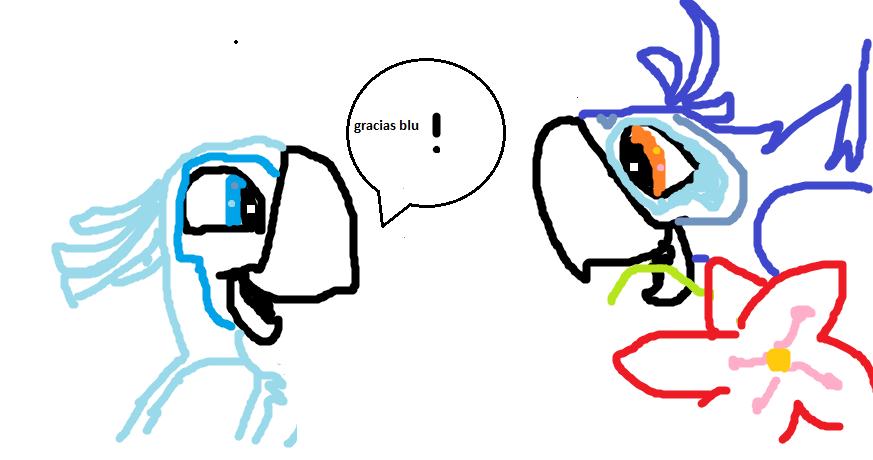 Mi dibujo de Blu y Perla (Rio) X0v8s5