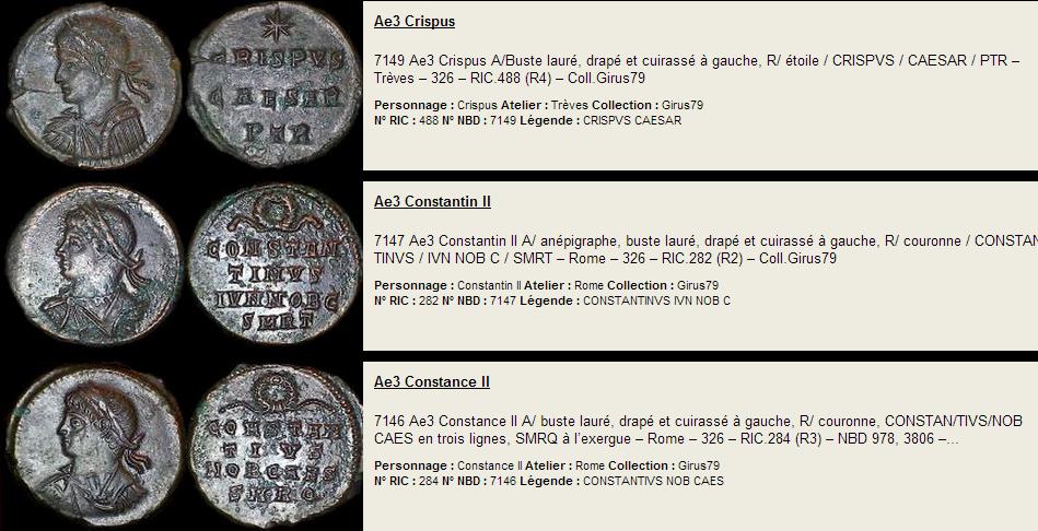 les monnaies anépigraphes pour les vicennales de Constantin Ier à Trèves Zlzmyr