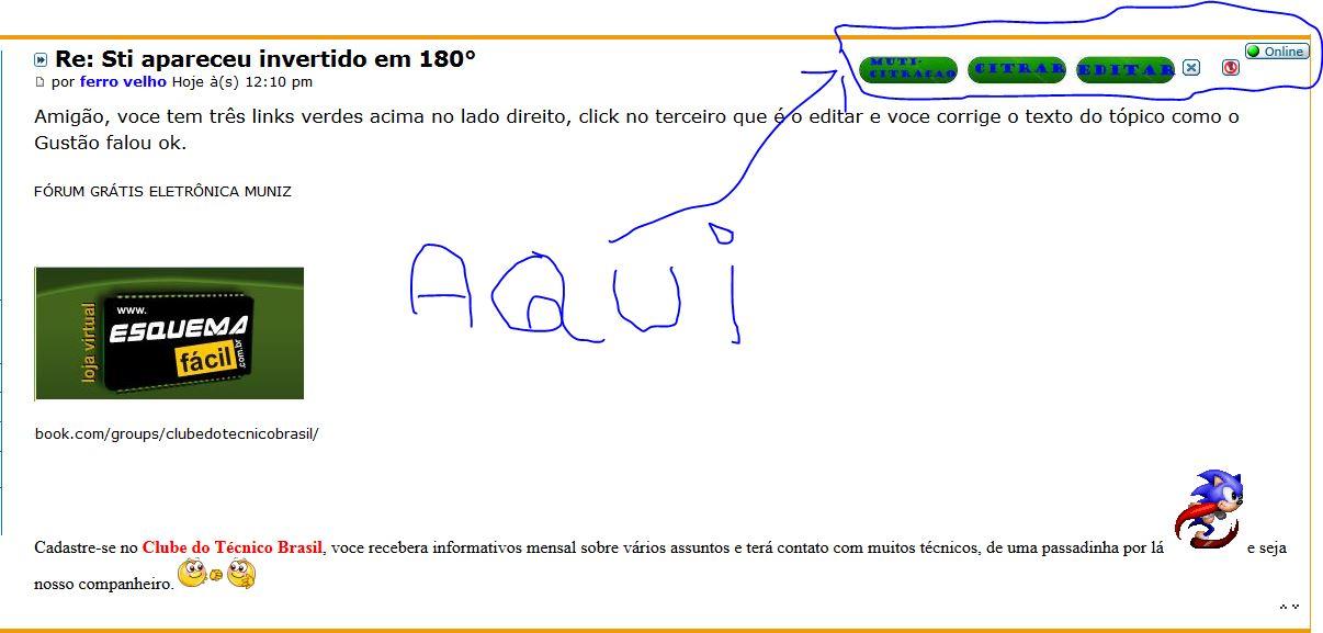 TV STI LE4052I AO FAZER ATUALIZAÇÃO FICOU INVERTIDA EM 180° 117tvrr