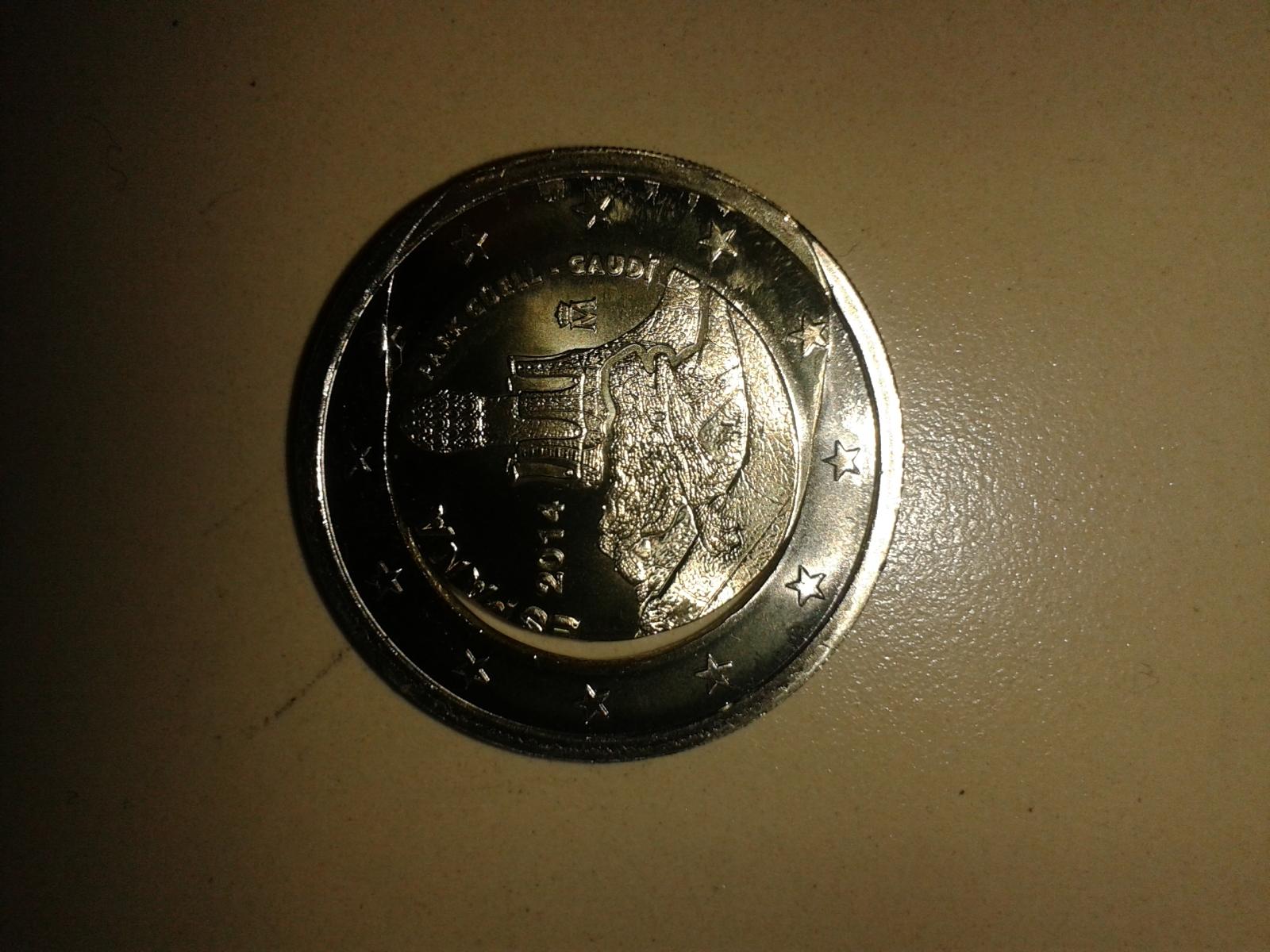 Moneda de 2€ CC Gaudi erronea. 14vs0vd