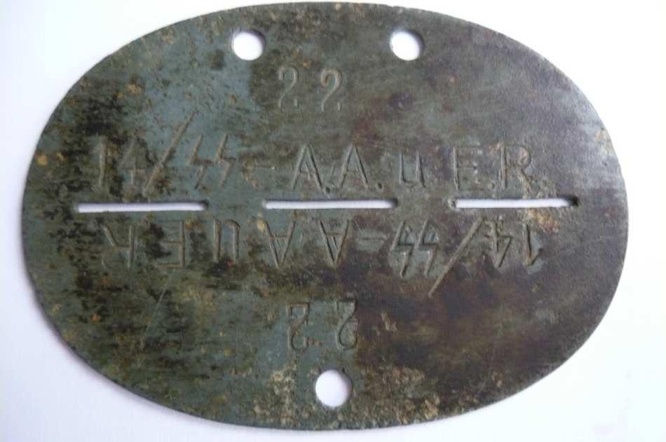 plaques matricules de la Waffen ss  15dkxmc