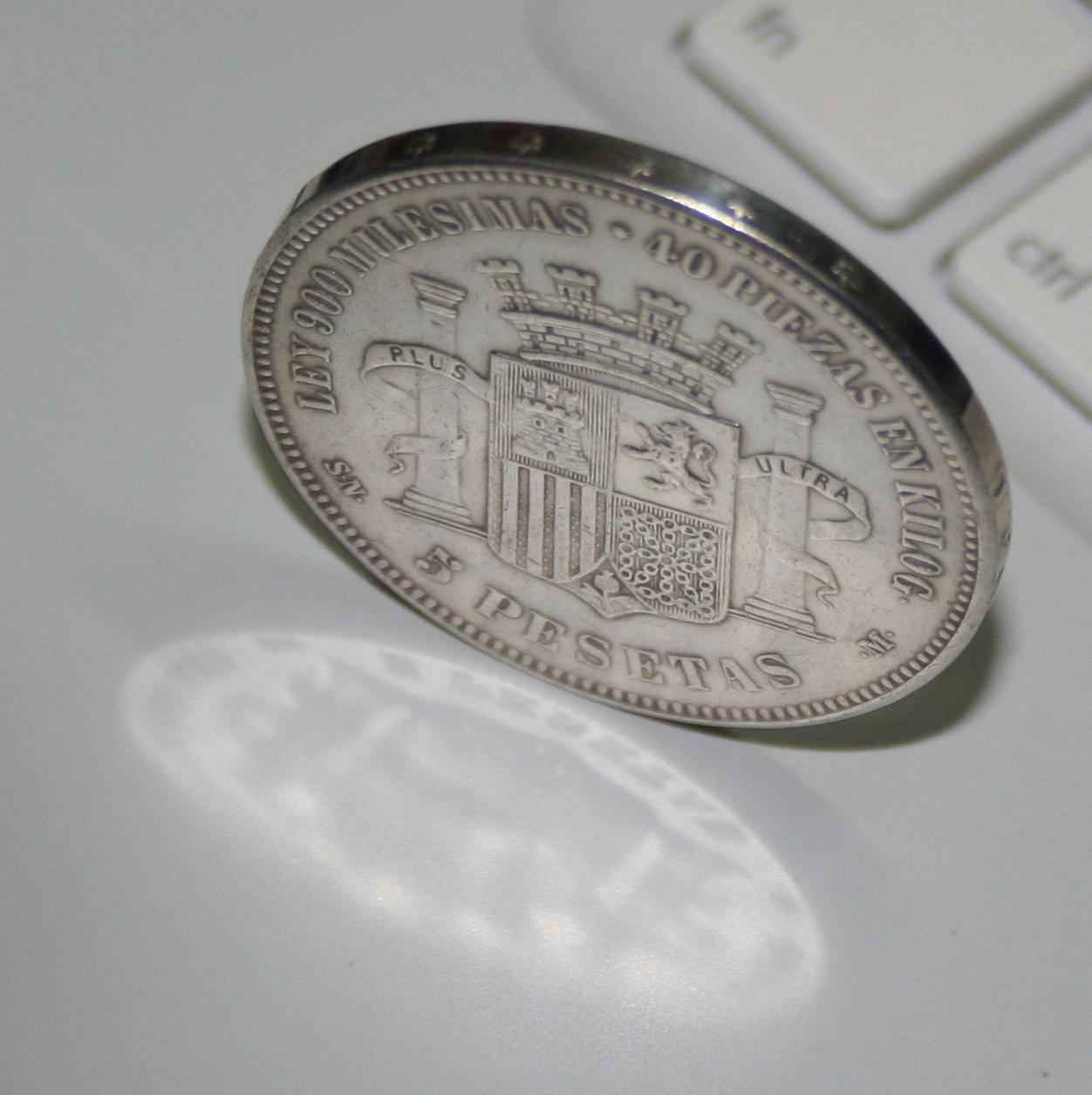 5 pesetas 1870 Falsa de epoca? o ni eso! 16jkc41