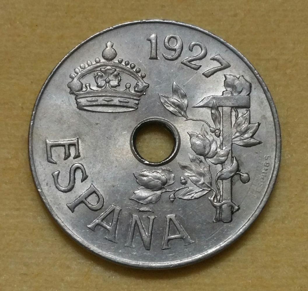 1925 - Serie completa 25 céntimos 1925, 1927, 1934 y 1937. 1bxwm