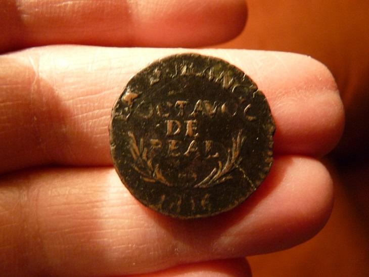 1/8 de real de Fernando VII de Durango de 1816 23mamgk