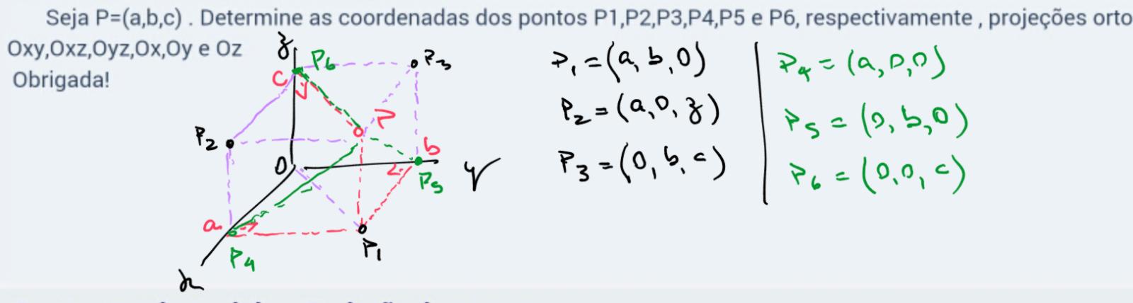 Geometria Analítica- Projeção de pontos 24489lh