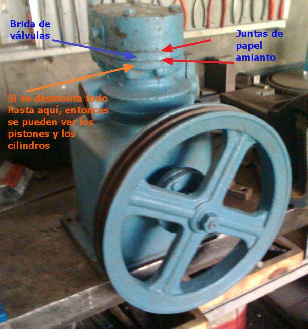 Ayuda:  para desarmar el cabezal de un compresor marca DELFAR 24b7rc5