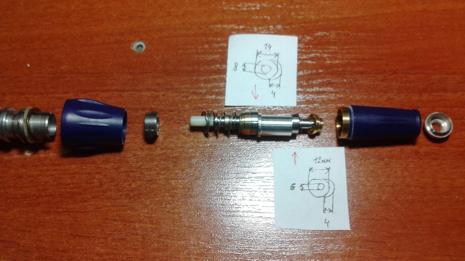 Ремонт маникюрной машинки Strong 210/105LN. Схема, размеры и замена подшипников в наконечнике и роторе. 29e0geg