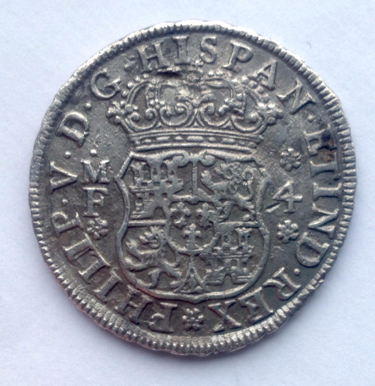4 reales columnario de 1740. Felipe V, México 29njcjb