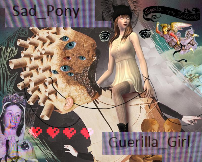 """""""SAD_PONY GUERILLA_GIRL"""" 2ag4sk1"""
