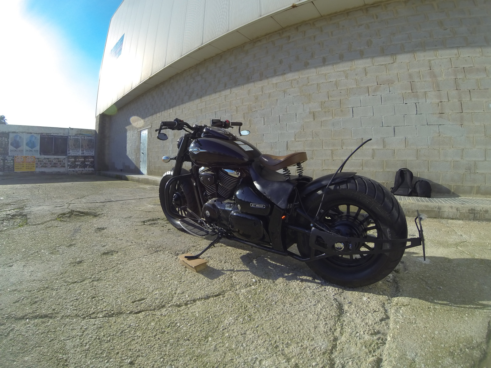 My Intruder c800 black edition bobber project 2ahhzxk