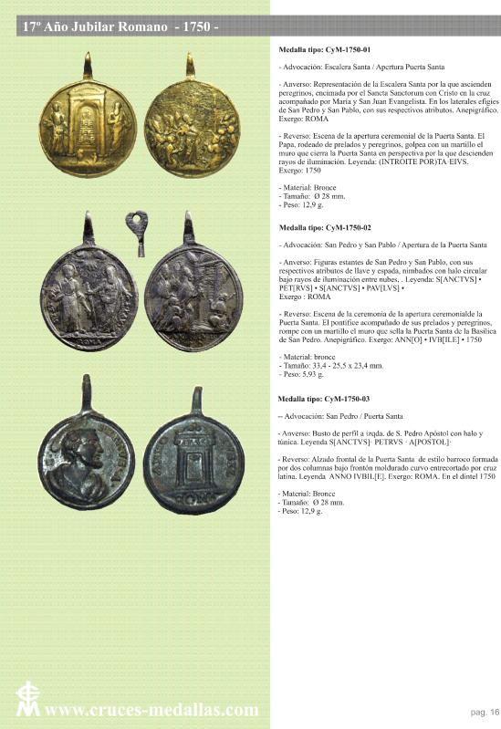 jubilares - Recopilación de medallas con fecha inscrita de los Años Jubilares Romanos  2d3vvo