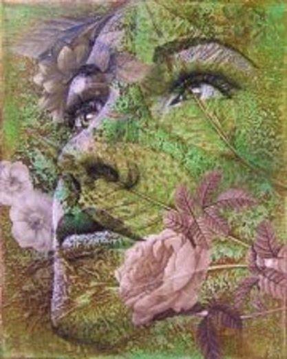 Caras de mujer hechas con flores 2dvvmhe