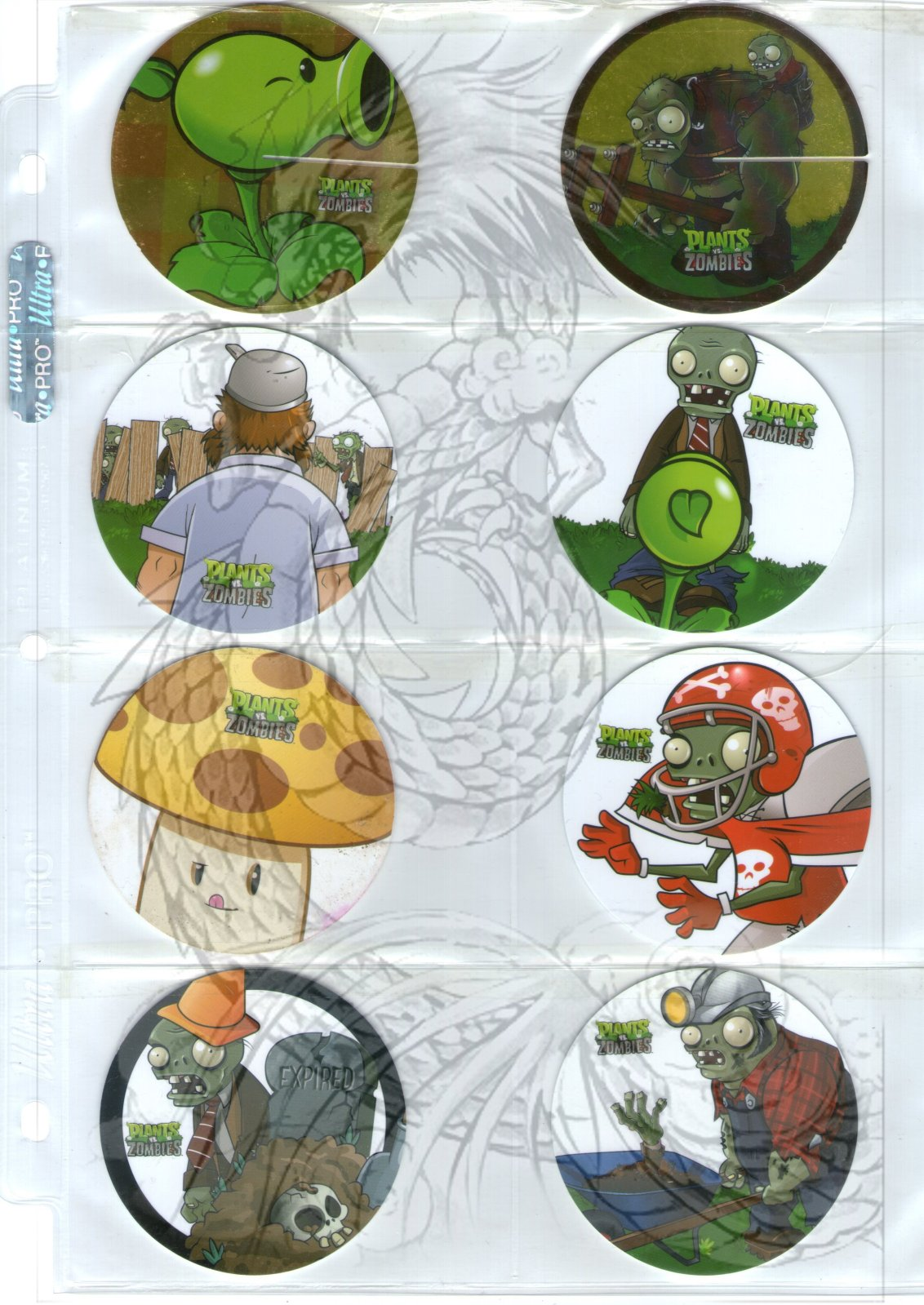 Tazos Plantas Vs Zombies de SABRITAS 2ec14p3