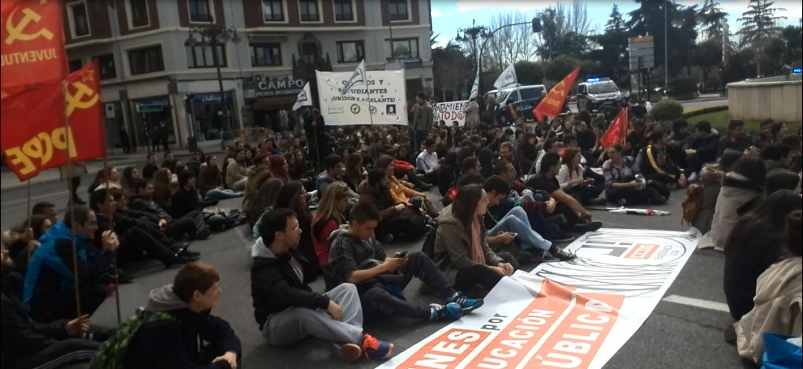 Banderas en las manifestaciones. 2eujups