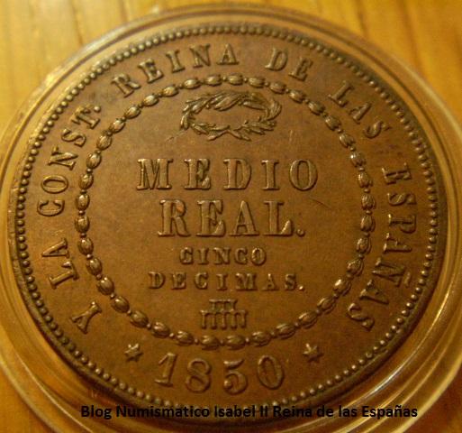 MEDIO REAL, CINCO DECIMAS 1848 ISABEL II - SEGOVIA 2ew1qxl