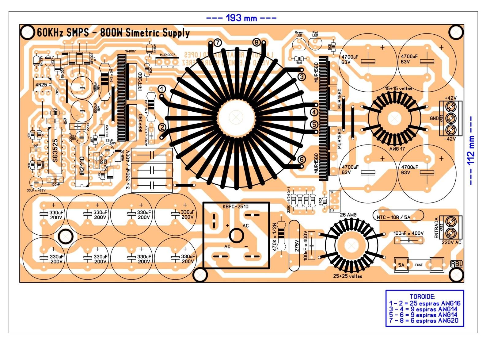 Fonte chaveada com SG3525 - Half Bridge Versão FINAL 2i11kzb