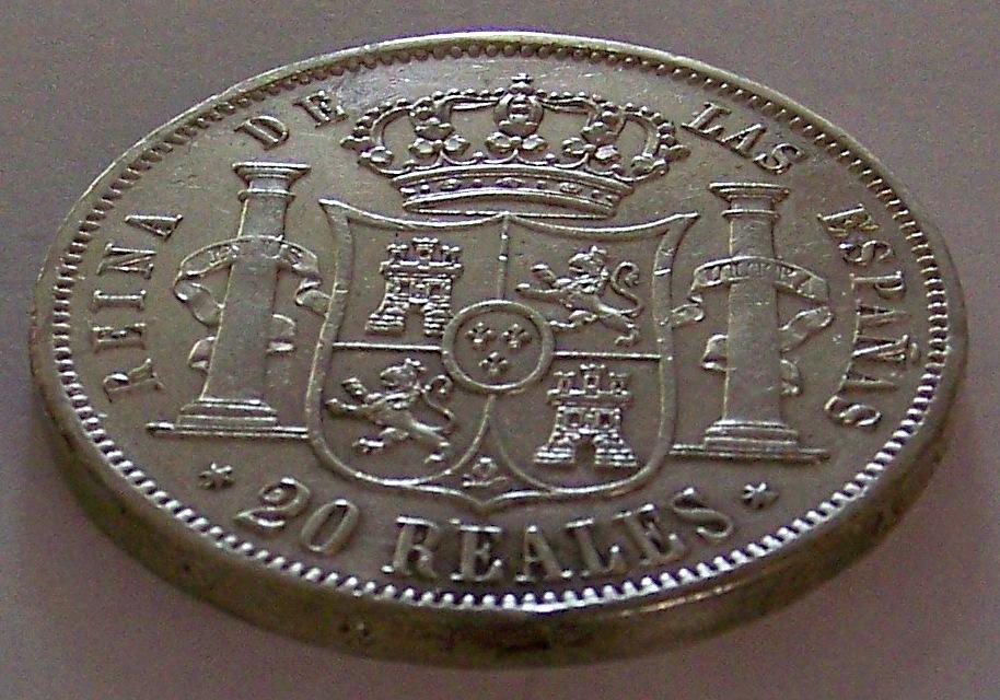 20 Reales de Isabel II de Madrid de 1861 2l90dnp