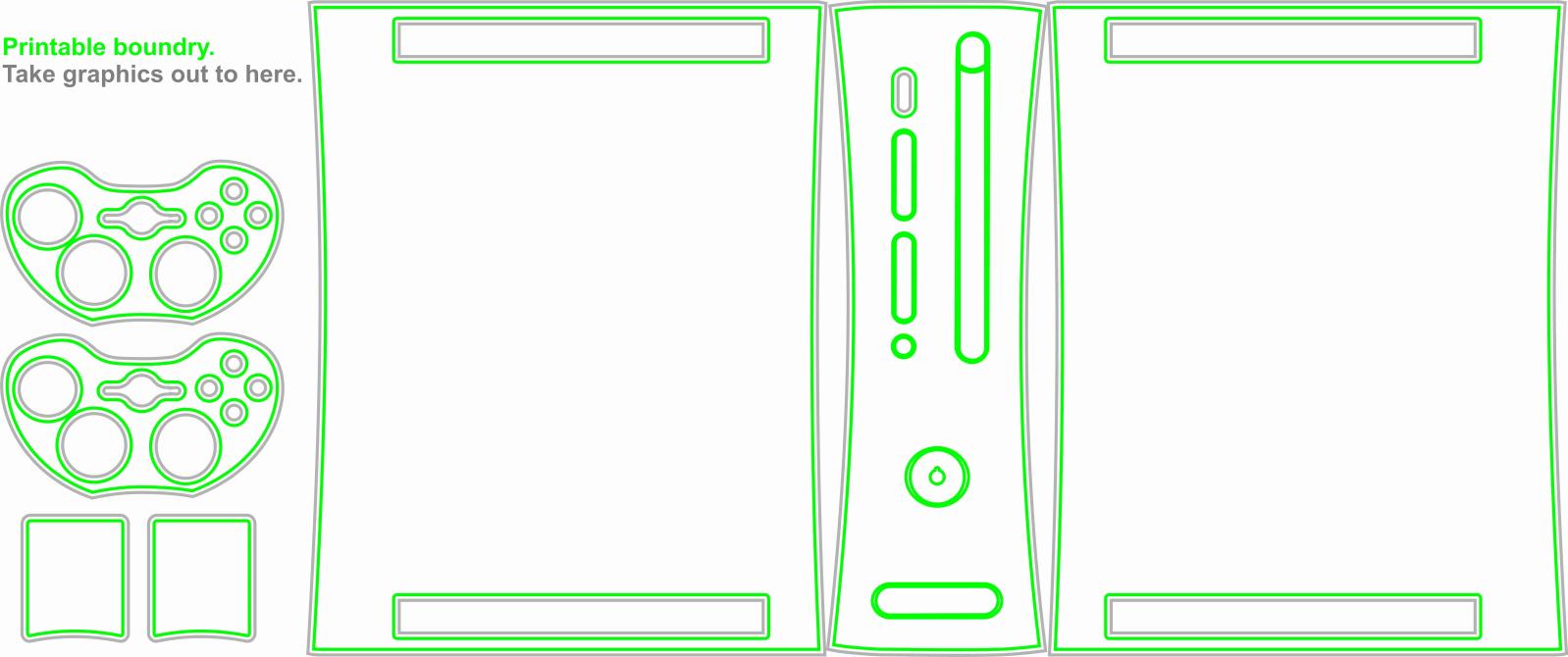 Skin para consoles (medidas, modelo em branco) 2u7aa6o