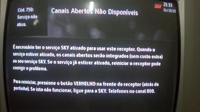 Canal Aberto Digital, sinal digital, na SKY 2w74qac